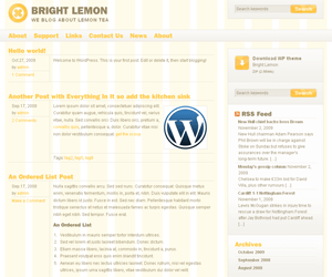 Bright lemon theme