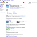 New Google search results page
