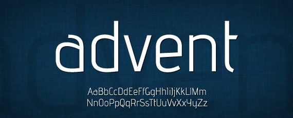 Advent great free font
