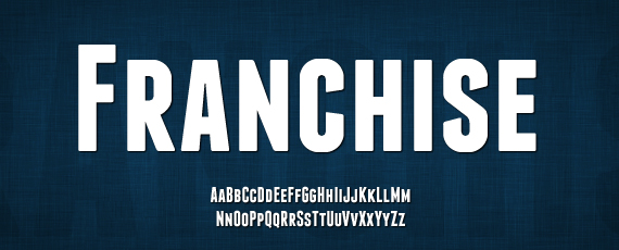 Franchise great free font