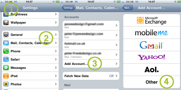 Setting up an email account on your iPhone