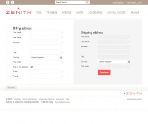 Shipping information - Ecommerce template