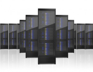Hosting, multiple server racks.