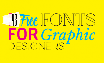 45 Free fonts for graphic designers