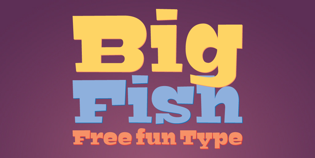Free fonts - Big Fish
