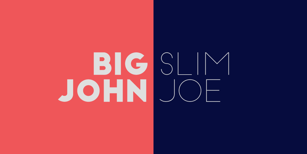 Free fonts - Big John / Slim Joe