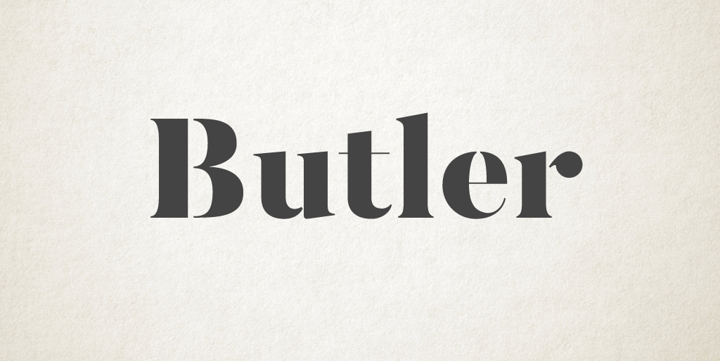 Free fonts - Butler