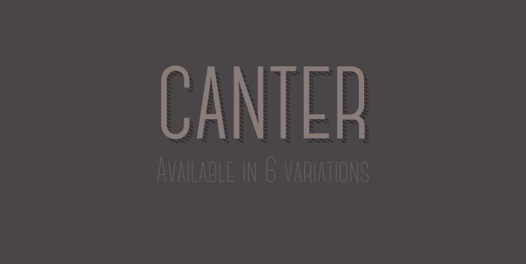 Free fonts - Canter