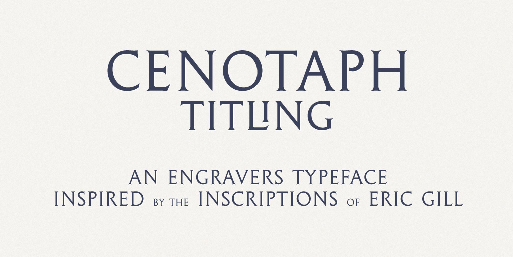 Free fonts - Cenotaph Titling