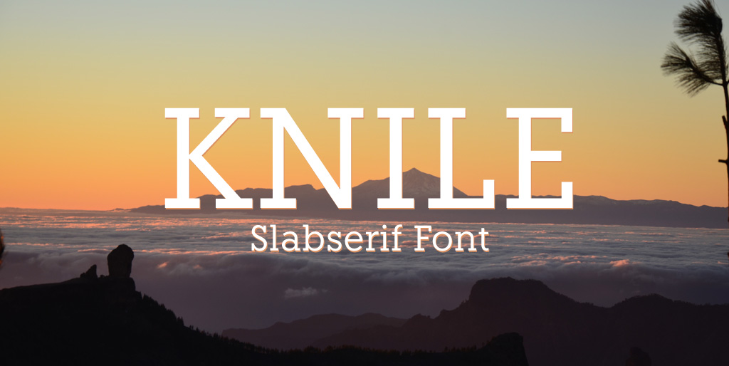 Free fonts - Knile