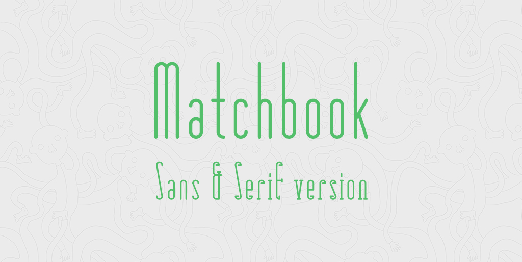 Free fonts - Matchbook