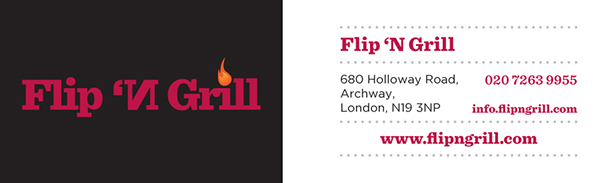 Flip 'N Grill - Businesscard