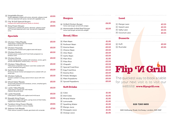 Flip 'N Grill- Placemat 2
