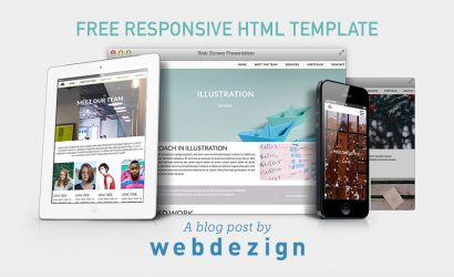 Free responsive HTML template using Sass